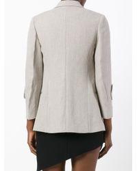 Victoria Beckham Multicolor Cropped Sleeve Blazer