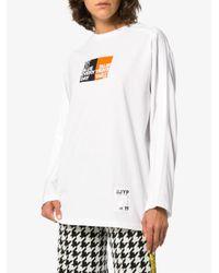 SJYP プリント ロングtシャツ White