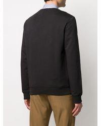 メンズ A.P.C. ロゴ スウェットシャツ Black