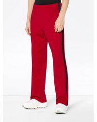 メンズ Maison Margiela サイドライン トラックパンツ Red