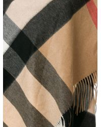 Burberry Multicolor Oversized Check Scarf