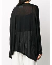 T-shirt semi trasparente di MM6 by Maison Martin Margiela in Black