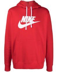 メンズ Nike ロゴ パーカー Red