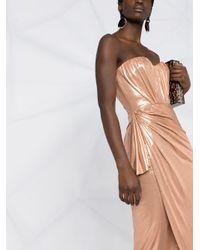 Elisabetta Franchi メタリック ドレス Pink