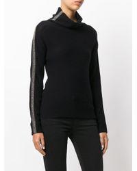 Jo No Fui Black Tubular Neck Sweater