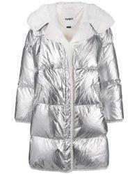 Army by Yves Salomon Metallic Oversized Padded Zipped Coat