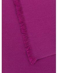 N.Peal Cashmere フレイドヘム スカーフ Multicolor