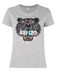 KENZO Gray Tiger T-shirt