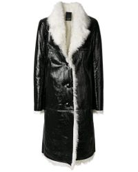 Numerootto - Black Long Loose Fit Buttoned Coat - Lyst