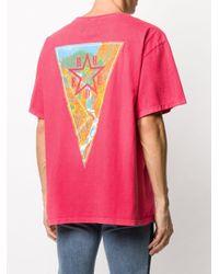 メンズ Rhude スローガン Tシャツ Red