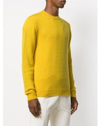 Roberto Collina Yellow Cable Knit Jumper for men