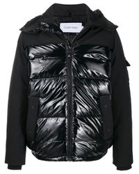 Пуховик С Контрастной Вставкой Calvin Klein для него, цвет: Black