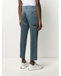 Prada Blue Cropped Tailored Trousers for men