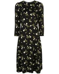 Reformation Black Moon Midi Dress