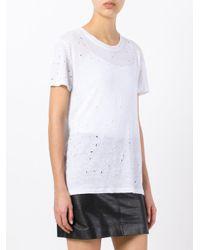 IRO White Lightly Distressed T-shirt