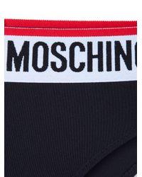Moschino - Black Logo Briefs - Lyst
