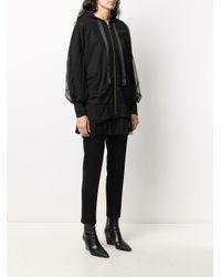 Twin Set チュールレイヤー スウェットシャツ Black