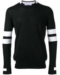 Givenchy Black Paneled Long Sleeve Jumper for men