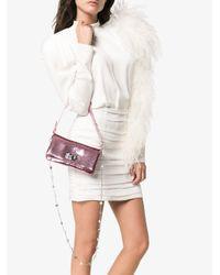 Miu Miu Pink Iconic Sequin Embellished Crystal Mini Bag