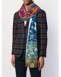 Foulard à imprimé cachemire Etro pour homme en coloris Blue