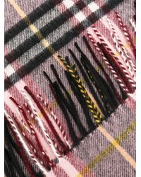 Sciarpa a quadri di Burberry in Multicolor