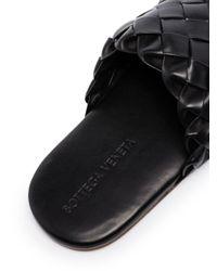 Шлепанцы С Плетением Intrecciato Bottega Veneta для него, цвет: Black