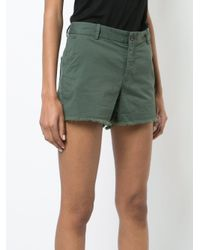 Nili Lotan - Green Cut Off Chino Shorts - Lyst
