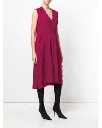 Givenchy Kanten Wijde Midi Jurk in het Pink