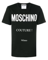 Moschino Black Couture Milano T-shirt for men