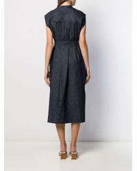 Mackintosh デニム ノースリーブ ドレス Linwood Wdr-1001 Blue