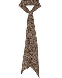 Écharpe à imprimé léopard Saint Laurent en coloris Multicolor