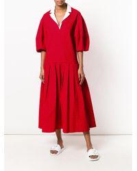 Natasha Zinko Red Oversized Dress