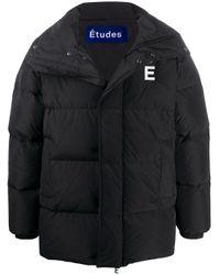 メンズ Etudes Studio パデッドコート Black