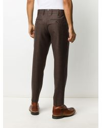 PT01 Multicolor Tapered Tailored Trousers for men