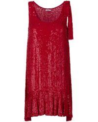 P.A.R.O.S.H. - Ruffle-trim Flared Dress - Lyst