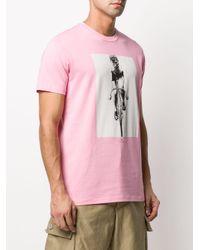 メンズ PS by Paul Smith プリント Tシャツ Pink