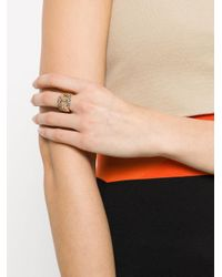 Pomellato - Metallic Interlocked Finger Ring - Lyst