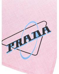 Foulard con stampa di Prada in Pink da Uomo