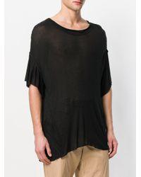 Di Liborio - Black Oversized T-shirt - Lyst