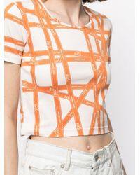 Hermès プレオウンド Bolduc Ribbon Tシャツ Orange