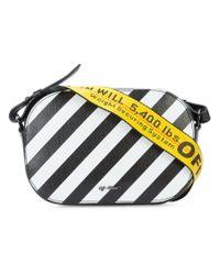 Off-White c/o Virgil Abloh Black Striped Crossbody Bag