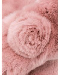 N.Peal Cashmere ネックウォーマー Pink