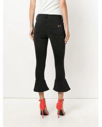 Elisabetta Franchi Black Flared Hem Jeans