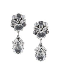 Rada' - Metallic Embellished Clip-on Earrings - Lyst