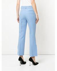Pantaloni sartoriali con banda laterale di MSGM in Blue