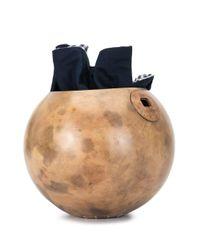 Silvia Tcherassi Brown 'Totumo' Handtasche
