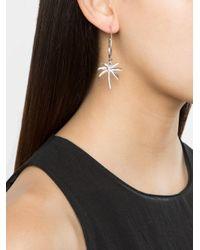 Yvonne Léon - White Diamond Palm Tree Charm Earring - Lyst