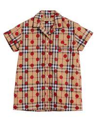 Burberry - Multicolor Polka Dot Check Shirt - Lyst
