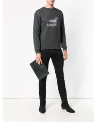 Monogram Tablet Holder Saint Laurent для него, цвет: Black