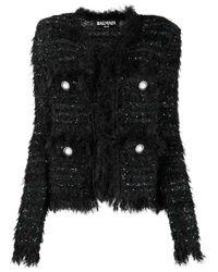 Balmain ツイードジャケット Black